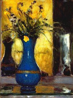 http://theartstack.com/artist/edouard-vuillard/blue-vase-5 The Blue Vase by Edouard Vuillard