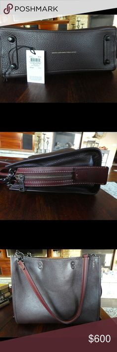 Coach Rogue Pebbled Leather Burgundy Red Fall 2016 Coach Rogue Pebbled Leather Burgundy Red Fall 2016. Like new. Used once for about a month. Excellent condition. Dust bag included! Coach Bags Shoulder Bags