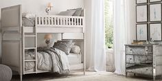 Marcelle Upholstered Bunk Bed Collection | Restoration Hardware Baby & Child
