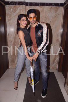 Sidharth Malhotra and Jacqueline Fernandez step out in style for A Gentleman's promotions | PINKVILLA
