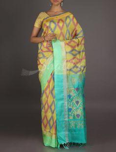 Swetha Colorful Diamonds In A Row #MangalgiriSilkSaree