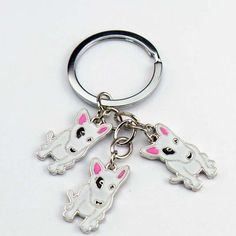 Wholesale American Pit Bull Terrier keychains Pet key ring dogs pendants key chains woman Car key ring Tag key best friend gift