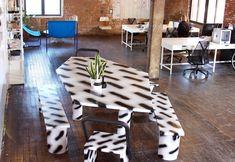 KWAMBIO NY Office in Brooklyn NY. Table by LIKEMINDEDOBJECTS