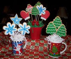 Christmas cookie bouquet Ideas - many others