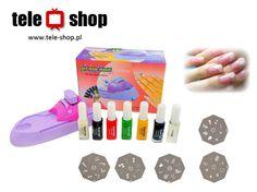 http://tele-shop.pl/ MASZYNKA DO ZDOBIENIA PAZNOKCI. Maszynka do wykonywania zdobień na paznokciach. Precyzyjne wykonanie gwarantuje najwyższą jakość tworzonych wzorów. Wystarczy wybrać odpowiedni wzór z załączonych metalowych płytek i pomalować lakierem.