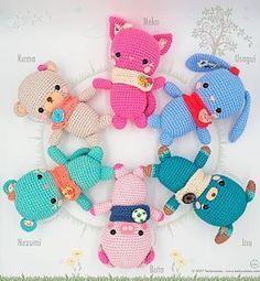 Crochet Patterns Animals amigurumi Kawaii Crochet, Cute Crochet, Crochet Crafts, Crochet Toys, Crochet Projects, Diy Projects, Diy Y Manualidades, Crochet Amigurumi Free Patterns, Spanish
