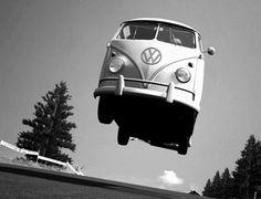 VW T1 flying around...