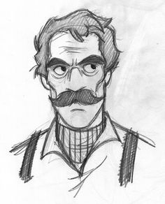 Oh, Santos. He's the teacher's pet, you know? If only every character could be like him, I tell his parents on Writer-Parent Meeting N. Drawing Cartoon Faces, Cartoon Sketches, Cartoon Art, Art Sketches, Cartoon Styles, Character Sketches, Character Illustration, Character Art, Man Illustration