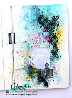 Art journal page for ColourArte