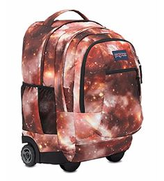 Jansport Driver 8 Core Series Wheeled Backpack One Size MULTI RED GALAXY *** BEST VALUE BUY on Amazon