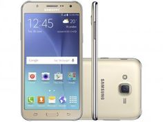"Smartphone Samsung Galaxy J7 Duos 16GB Dourado - Dual Chip 4G Câm 13MP + Selfie 5MP Flash Tela 5.5"""