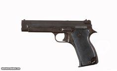 This is a 7.65mm SACM ( Société alsacienne de constructions mécaniques ) mle 1935A handgun. The gun has a 4 1/2'' barrel and a good bore. This SACM mle 1935A has its original parkerized finish.