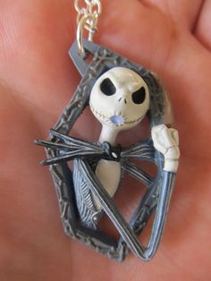 Nightmare Before Christmas Necklace OOAK Gift Jack by Letmebe