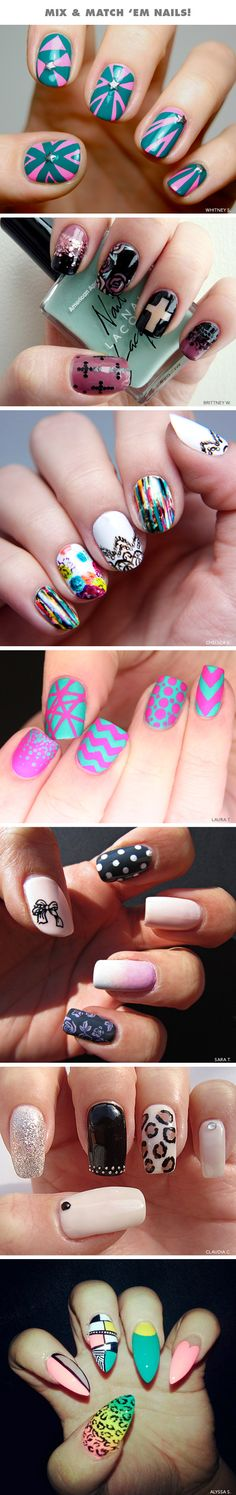 Mix-and-Match Nails!
