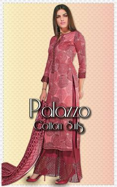 MBGN3303 - Maroon Cotton Palazzo Suit Go ethnic with your weekend style this season wearing this Maroon Printed Cotton Palazzo suit. The traditional print on the kurta will surely give you a unique look. Paired with matching chiffon Dupatta and bottom. http://www.meenabazaar.com/salwar-kameez/palazzo-suits/maroon-cotton-palazzo-suits.html