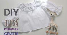 DIY, patrones, ropa de bebe y mucho más para coser.: DIY Como hacer blusa para bebe (patrones gratis)
