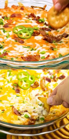 Jalapeno Popper Dip is a creamy, cheesy dip with spicy jalapenos and savory bacon. Even better than the familiar appetizer, this dip will go fast! Super easy to make. Gluten free, low carb, and keto friendly. This stuff is seriously addictive!