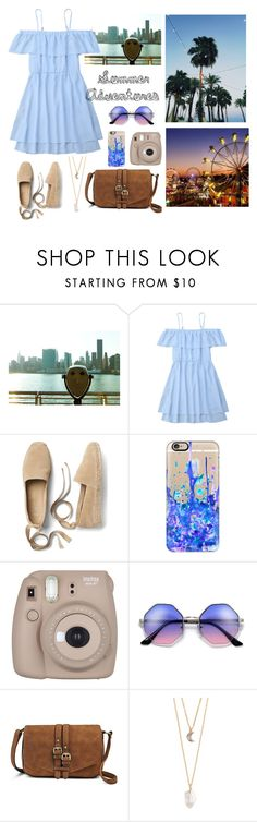 """""""Summer Adventures ☀︎"""" by natalialovesnutella ❤ liked on Polyvore featuring Gap, Casetify, Fujifilm, Merona and With Love From CA"""