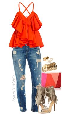 Untitled #3279 by stylebydnicole on Polyvore featuring polyvore fashion style Jean-Paul Gaultier Schutz L.K.Bennett H&M Pieces clothing