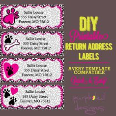 Pennant Banner Bunting Return Address Labels Avery Template Diy