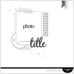 design by diana: Sketch challenge {scrapbook circle} Scrapbook Patterns, Scrapbook Layout Sketches, 12x12 Scrapbook, Scrapbook Templates, Scrapbook Designs, Card Sketches, Scrapbook Paper Crafts, Scrapbook Supplies, Scrapbooking Layouts
