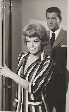 "1959 - Romy Schneider & Carlos Thompson-  film ""Eva"" (""Die Halbzarte"") - presse recto"