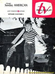 The Andy Griffith Show TV Magazine Cover