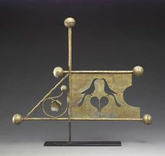 MOLDED AND CUT SHEET COPPER BANNERETTE WEATHERVANE AMERICAN, LATE 19TH CENUTRY