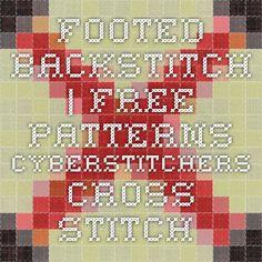Footed Backstitch | Free Patterns Cyberstitchers Cross-Stitch