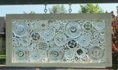 Glass plates glued to a window...genius!