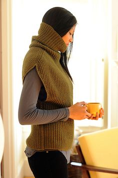 Oversized Modern Turtleneck - Love this pattern as a layering piece!