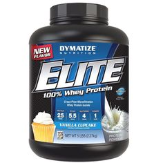 Protein Shakes and Bodybuilding: Dymatize Nutrition Elite Whey Protein, Select Flavor, 5 Pound Lbs BUY IT NOW ONLY: $51.89