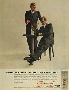 0 Two Joseph Cotten's are Better Than One Smirnoff Vodka ad (1958)