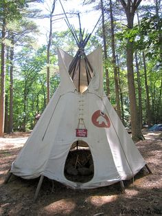 Tepee at the H. Cushman Anthony Stockade at Camp #Yawgoog, Rockville, Hopkinton, Rhode Island (RI).  A 2014 image by David R. Brierley.
