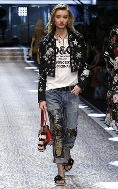 Fall '17 marks a fashion first. Domenico Dolce and Stefano Gabbana had all of Milan (and Instagram) buzzing when they sent their latest collection down the runway on a mix of friends, fashion personalities, celebrities, models and even clients. It painted a joyful, all-inclusive vision of the future, where living Dolce's good life dressed in robust florals and rich brocades was a look that worked on women across styles, size and age.
