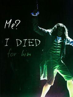 Me? I died for him -John Laurens/Philip Hamilton, Alexander Hamilton, Lin Manuel Miranda