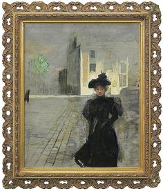 Axentowicz Teodor - ALONE IN PARIS, 1887, oil, canvas - by Agra-Art S.A.