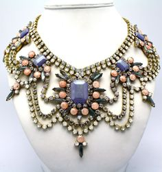 Crystal Statement Necklace by DolorisPetunia on Etsy