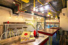 renesa architecture designs pizza restaurant in new delhi