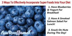 Want to increase your metabolism? Then make sure your diet contains plenty of super foods.
