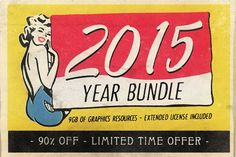 -- 2015 Year Bundle: 90%OFF -- expires 16.1.16 - 15 Products for 90%OFF - 9GB of Graphics Resources - From $212 to $22 EXTENDED LICENCE INCLUDED! You can make items for resale (including