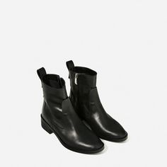 FLAT LEATHER ANKLE BOOTS-View all-SHOES-WOMAN   ZARA United Kingdom