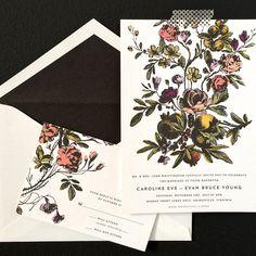 A darkly romantic invitation design.
