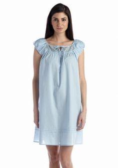 Kim Rogers  Lace Trim Cotton Woven Gown