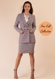 Double Breasted Suit, Smart Casual, Lady, Peplum Dress, Suit Jacket, Suits, Jackets, Dresses, Fashion