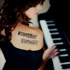 Sheet Music A Tattoo Shoulder Tattoo Music Notes Music Note Tattoo Music Tattoo Foot, Sheet Music Tattoo, Music Lyric Tattoos, Foot Tattoos, Piano Tattoos, Small Tattoos, Tiny Tattoo, Temporary Tattoos, Tattoo Girls