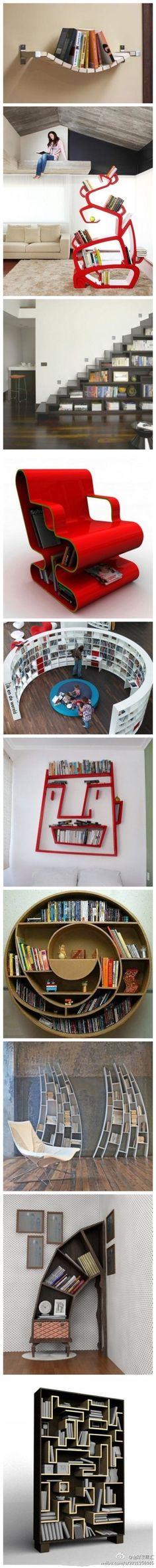 So many neat bookshelves