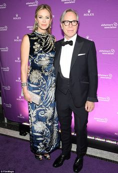 Tommy Hilfiger posed with his with his wife at the Alzheimer's Association Rita Hayworth Gala in New York City.