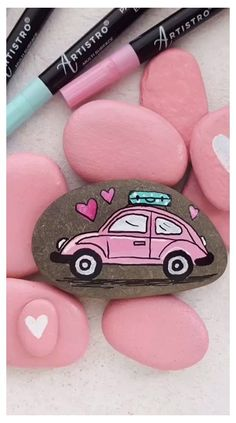 Pebble Painting, Car Painting, Pebble Art, Stone Painting, Painting Videos, Matte Painting, Painting Techniques, Painting Tutorials, Rock Painting Ideas Easy