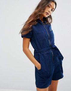 c19a1719084 Lee 70s Inspired Indigo Playsuit Lee Dungarees